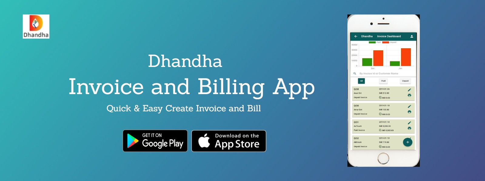 invoice and billing GST APP
